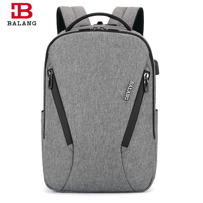 BALANG Brand 2018 New Men's Casual Backpacks Fashion Computer Backpack USB School Bags for Teenagers Waterproof Laptop Backpack balang brand business laptop backpack travel backpack fashion school bags for teenagers men trendy bags for teenagers boys