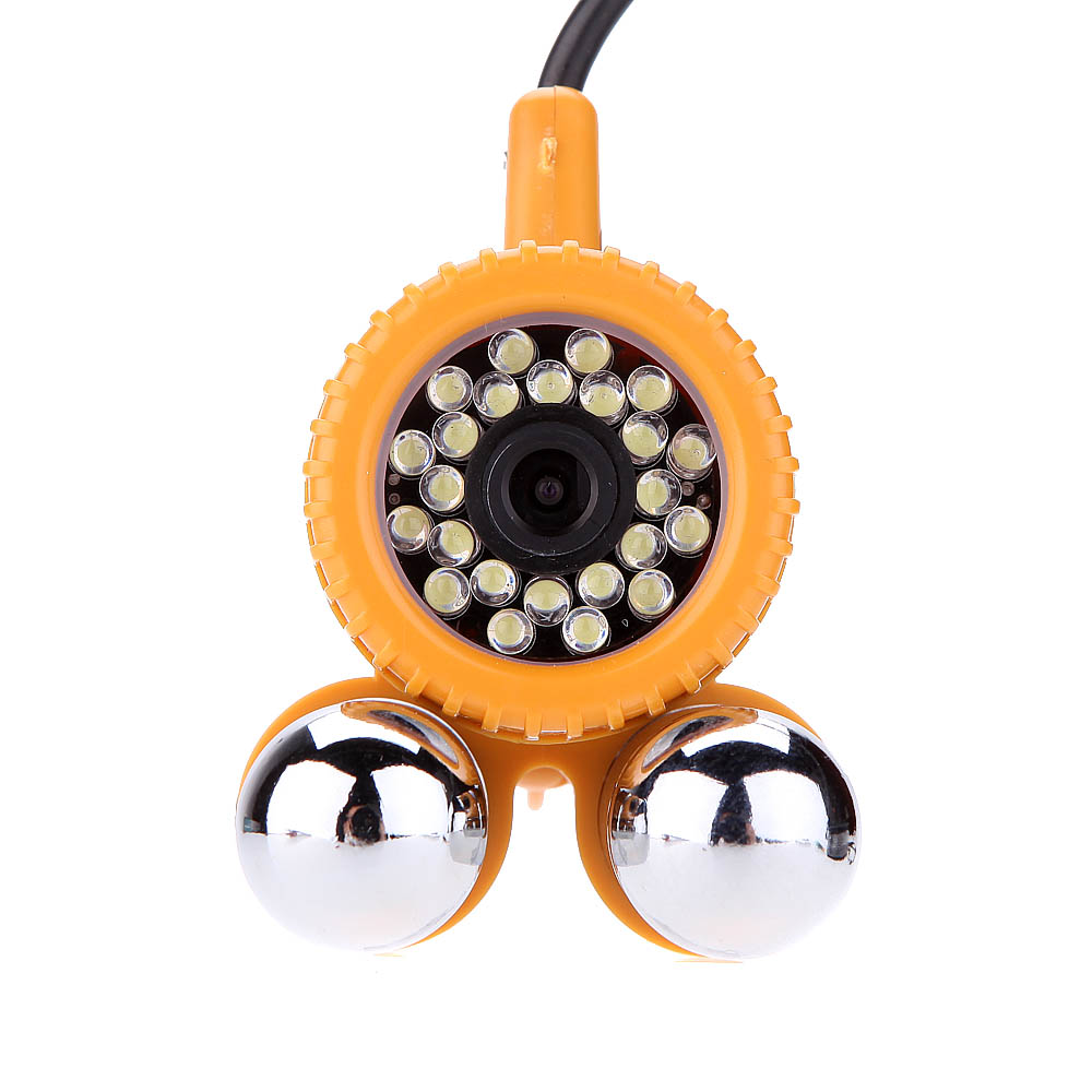 20M 30M Cable Underwater Video Camera Fish Finder 600TVL CCD Camera 24pcs White LED Lights Nightvision