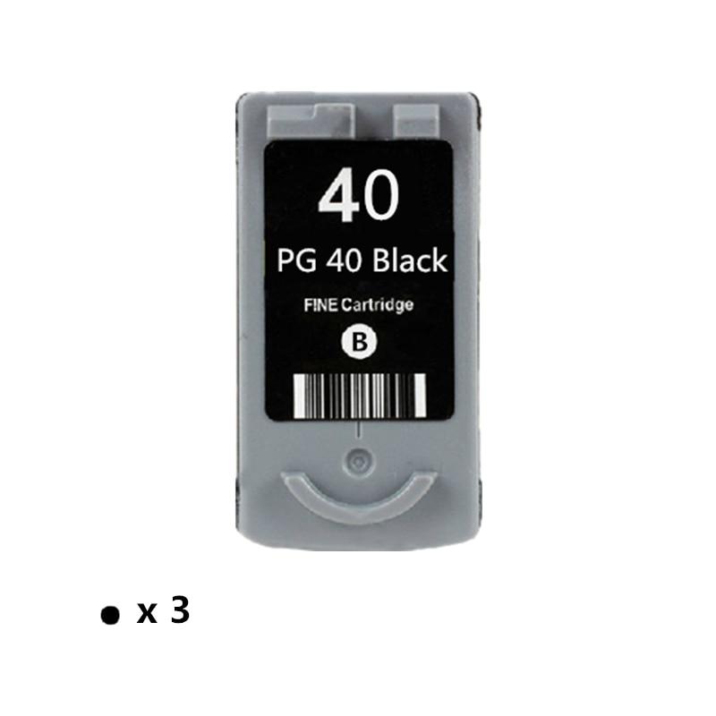 3PK PG 40 Cartuccia di Inchiostro di ricambio Per Canon PG40 Pixma MP140 MP150 MP160 MP180 MP190 MP210 MP220 MP450 MP470 Stampante