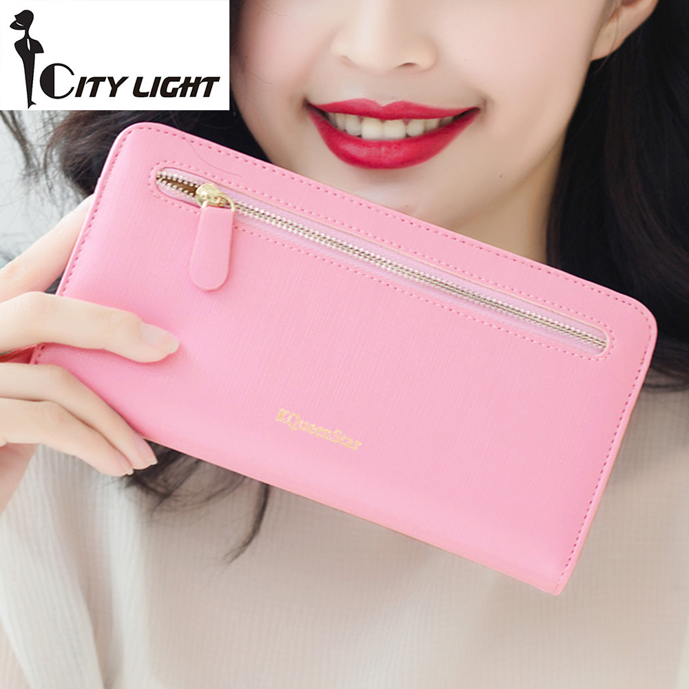 2016 new  fashion women wallets cross-section zipper hasp long wallet lady wallet cluch purse large capacity  more card place fender squier vintage modified jaguar rw surf green