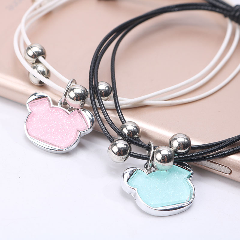4pcs Romantic Cute Bear Couple Bracelet Lovers Men...