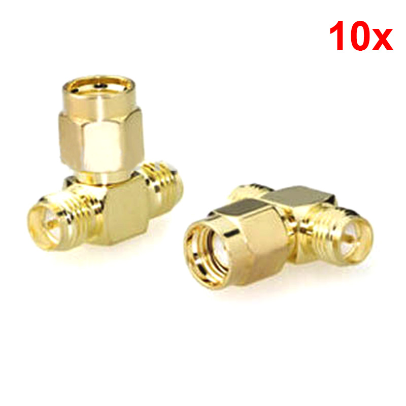 10pcs SMA Male to Two SMA Female Triple T RF Adapter Connector 3 Way Splitter New  CLH edouard dujardin we ll to the woods no more