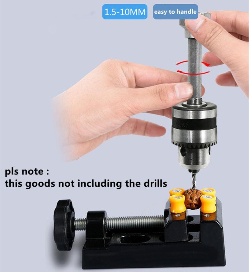 Manual de Broca de Mão Gama Mandril de Aperto 1.5-10 MM Mini Micro Pequeno Perfurador para Âmbar Nuclear de Perfuração Ferramentas de BRICOLAGE