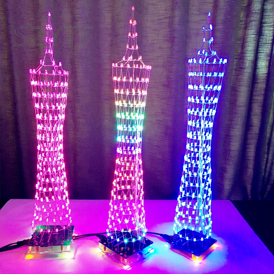Light Tower Baseball Training: Colorful LED Tower Display Lamp Infrared Remote Control