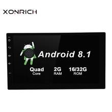 7 дюймов Android 8,1 Автомобильный мультимедийный плеер радио плеер стерео головное устройство руль без DVD 4 ядра wi fi gps навигации
