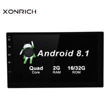 7 pollici Android 8.1 Universale Car Multimedia Radio unità di Testa Stereo Volante NO DVD Quad Core Wifi GPS di navigazione