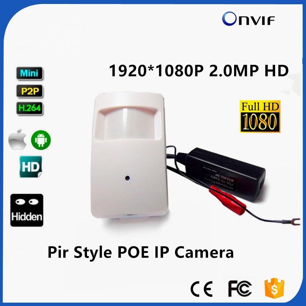 1080 P POE IP Камера ONVIF P2P Plug And Play мини ПИР Пинхол сети POE IP Камера Pir Стиль детектор движения Мини POE Камера