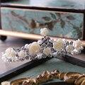 Em Estoque de Casamento Acessório de Strass Frisado Chapéus De Noiva Jóias Acessório de Noiva Hairwear Para As Mulheres Frete Grátis