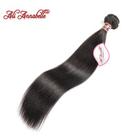 Ali Annabelle Hair Peruvian Remy Hair Straight Natural Color 10 28 100 Human Hair Bundles