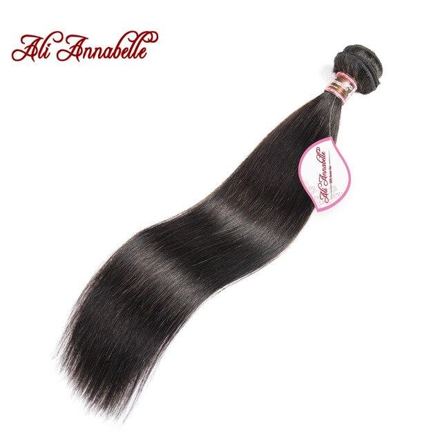 ALI ANNABELLE pelo peruano recto del 100% de pelo humano Remy armadura del pelo Bundles 1/3/4 piezas 10 A 28 pulgadas Color Natural