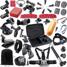 цены на 54Pcs Kit SJCAM SJ4000 SJ5000 SJ7000 Action Camera Accessories Set Package For Gopro Hero 7/6/5/4/3/3+/2/1 SJCAM XIAOMI YI  в интернет-магазинах