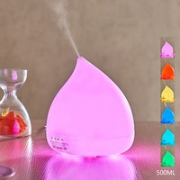 500ML Larger Capacity Ultrasonic Air Humidifier With Colorful LED Night Light Aroma Diffuser Mood Lights Essential