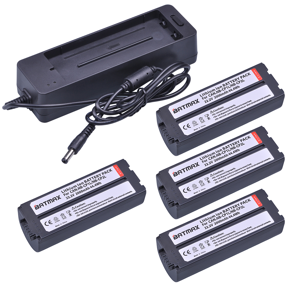 4PACK NB-CP2L NB CP1L Replacement Battery+ Charger kits for Canon Photo Printers SELPHY CP800,CP900,CP910,CP1200,CP100,CP13004PACK NB-CP2L NB CP1L Replacement Battery+ Charger kits for Canon Photo Printers SELPHY CP800,CP900,CP910,CP1200,CP100,CP1300