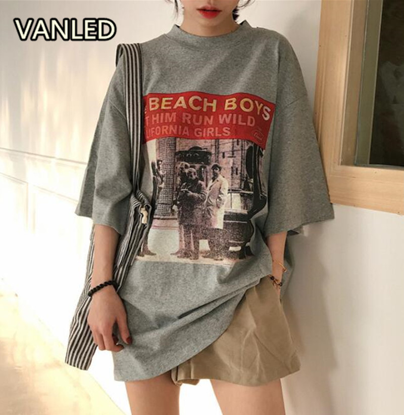 2018 New Harajuku Fashion Chic O Neck Short Sleeve Printing Casual Loose Women T-shirt Summer Street Wear Clothes