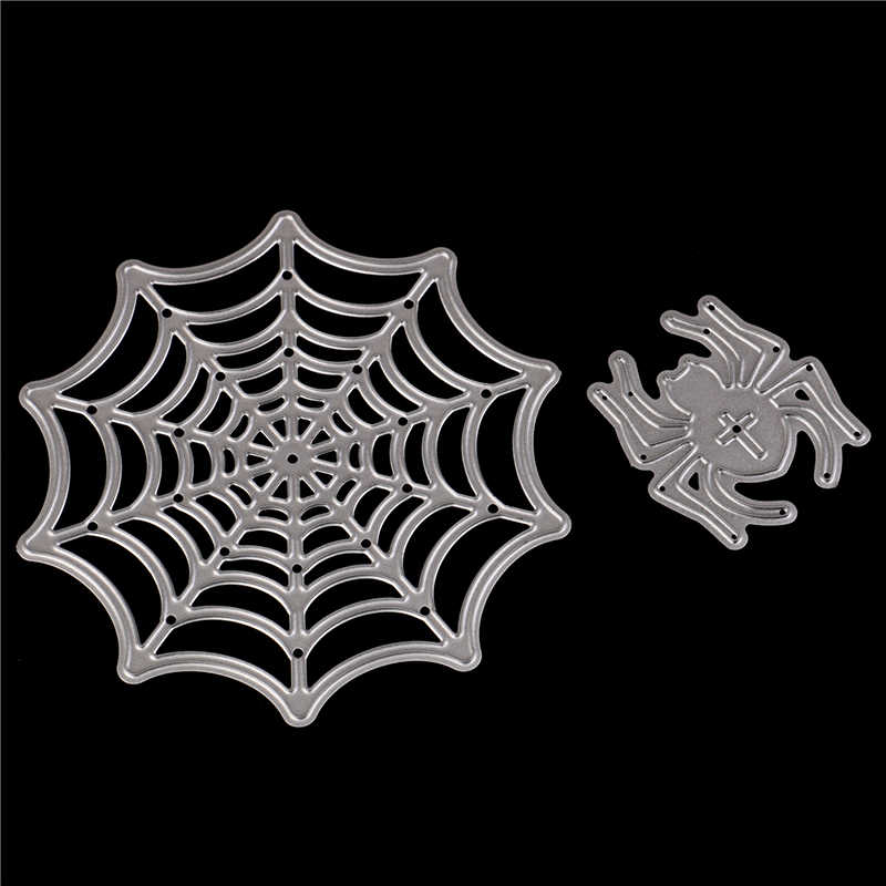 Diy Sbooking Al Paper Card Decoration Spider Web Template Metal Cutting S Embossing