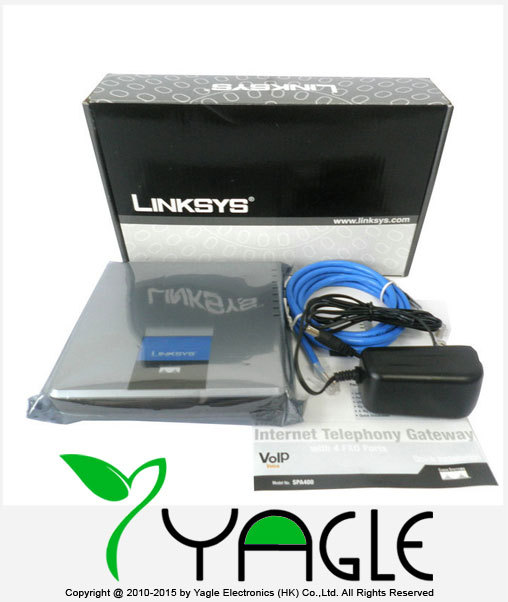 Welcome Unlocked LINKSYS SPA400 4 FXO Gateway Phone Adapter Internet Telephony-in VoIP Gateway