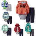 Baby hoodies sport coat + bodysuit + pants 3pcs clothing sets Original Jacket Boys infants toddler girl clothing designer
