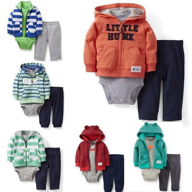 Baby hoodies sport coat + bodysuit + pants 3pcs clothing sets Original Jacket Boys infants toddler girl clothing designer