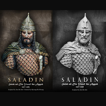1/10 SALADIN Resin Figure Bust GK Historical role Film theme Uncoated No colour