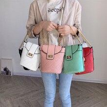 High Quality Brand Designer Leather Bucket Women's Handbags Shoulder Crossbody Bags Top-Handle Evening Clutch Purse Sac A Main цены