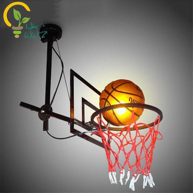 Modern Basketball Led Pendant Light Bar Restaurants Cafes Lighting Fixture  Creative Led Pendant Lamps Childrenu0027s Hanging