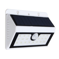 Wireless solar powered 20 solar led lampion PIR sensor de movimiento solar Iluminación al aire libre cerca jardín pared impermeable Luz