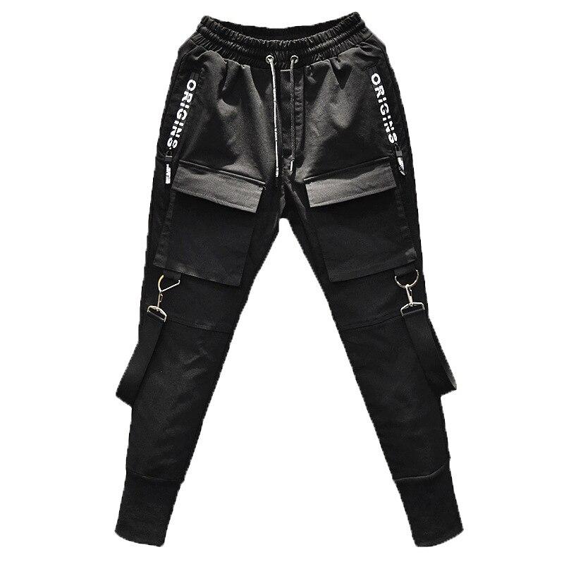New 2018 Men's Fashion personality slim elasticity Haran pants Multi Pocket Haran pants tootsies singer costumes M-2XL 4