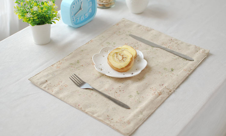 [RainLoong] Vintage Table Mat Pad With Lace Thermal Insulation For Tableware Dinning Kitchenware Decoration 40x30cm