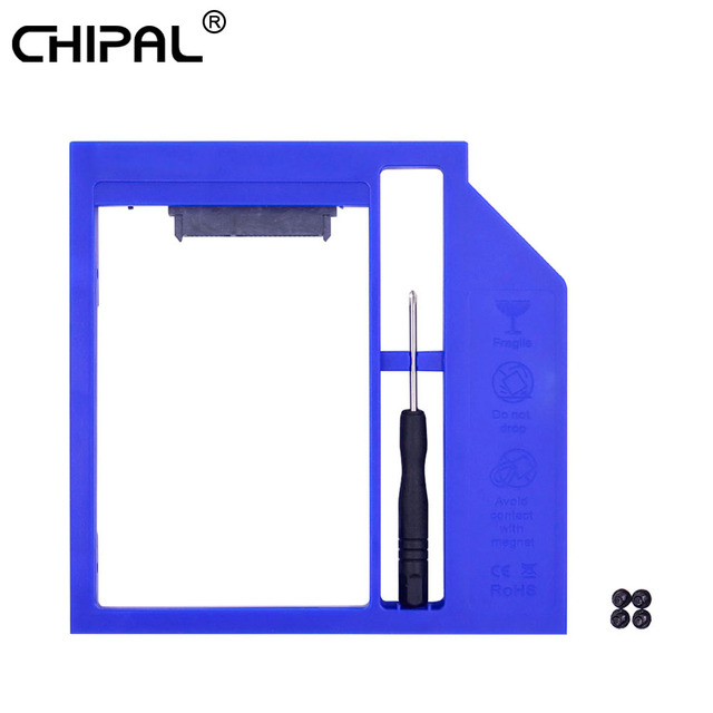 "CHIPAL Foxconn Chip SATA 3,0 2nd HDD Caddy 9mm 9,5mm para 2,5 ""2 T SSD duro caso caja de unidad de disco para Notebook CD-ROM Optibay"