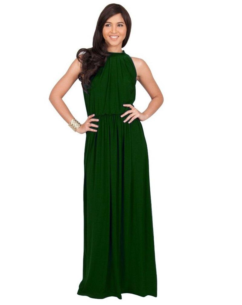9d9b8fd866 Kobiet dorywczo lato czarna sukienka maxi elegancki bez rękawów biały długa  suknia na studniówkę dorywczo sukienka koktailowa Graduation formalna suknia  na ...