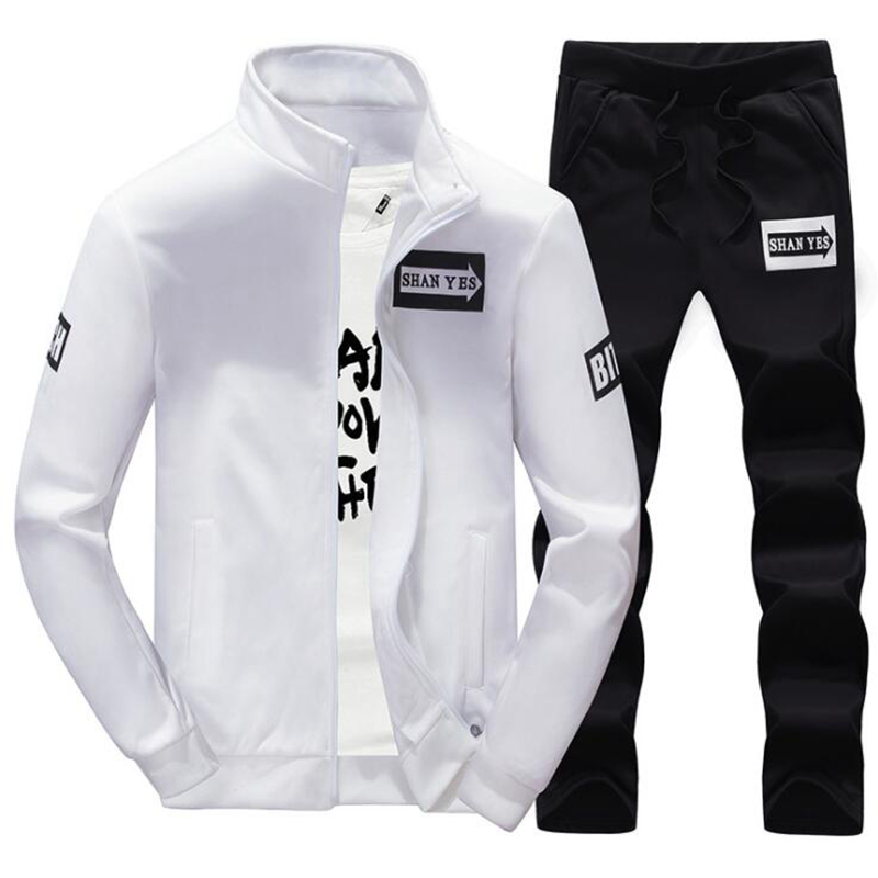 New brand Men Sportswear Spring and Autumn Long sleeve two-piece sports suit outdoor Breathable track suit Man Running sets