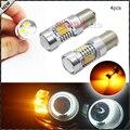 4 unids ámbar amarillo libre de errores samsung 2835-smd 1156py bau15s 7507 py21w Bombillas LED Para El Coche LED Bombillas Para Luces Direccionales Delanteras