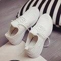 Обувь женщина дышащий суперзвезда обувь на шнуровке tenis feminino износостойкий холст обувь ткани белый/черный обувь 2017 мода