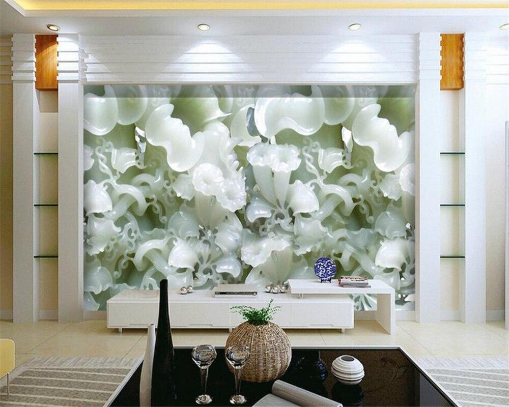 8 14 40 De Réduction Beibehang Fleur Haute Définition Jade Trompette Fleur Image Murale Papier Peint Personnalisé Toutes Les Tailles 3 D Salon