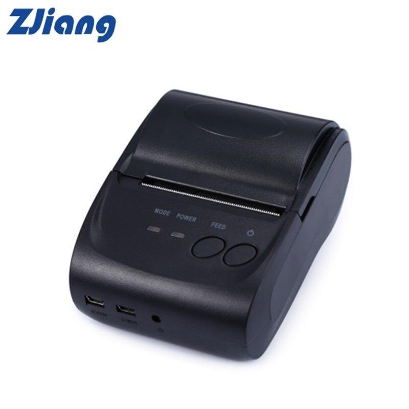 ZJiang ZJ-5802LD Mini Bluetooth Port Thermische Empfang Drucker 58mm High Speed Klar Thermische Empfang Drucker Für Supermaket Hotel