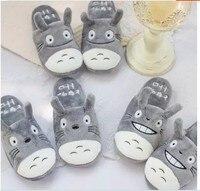 Cartoon 1 Pair Of Autumn And Winter Totoro Couple Household Slippers Indoor Non Slip Floor Fluffy