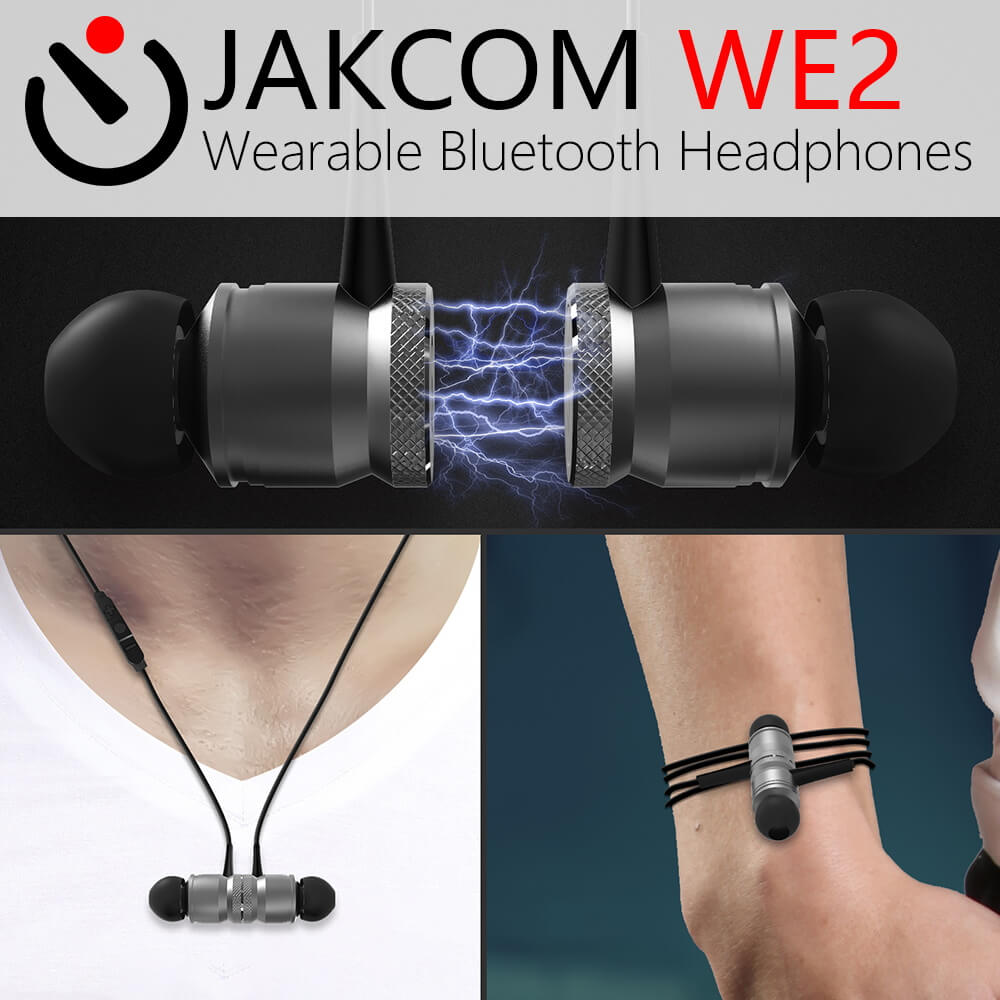 JAKCOM WE2 Wearable Bluetooth Earphone New Product of Earphones As Bluetooth for Mobile Phones With Microphone For Sports original ijoy captain pd270 box mod vape 234w ni ti ss tc electronic cigarette vaper power by dual 20700 battery