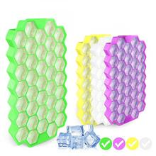 Honeycomb Shape Ice Cube With 37 Cubes Cream Lattice Box Tray Mold Storage Containers Kitchen Tools