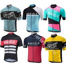 Morvelo новый для мужчин Трикотаж 2019 pro team короткий рукав MTB Велосипедный спорт костюмы Велосипед Одежда Майо Ropa Ciclismo Hombre