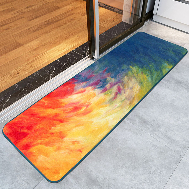 Nice Rainbow Abstract Art Painting Area Rugs Carpet Kitchen Parlor Living  Room Colors Carpet Floor Mats