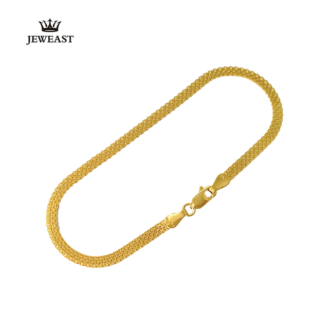 18K Pure Gold Bracelet Real AU 750 Solid Gold Bangle Good Beautiful Upscale Trendy Classic Party Fine Jewelry Hot Sell New 2020 4