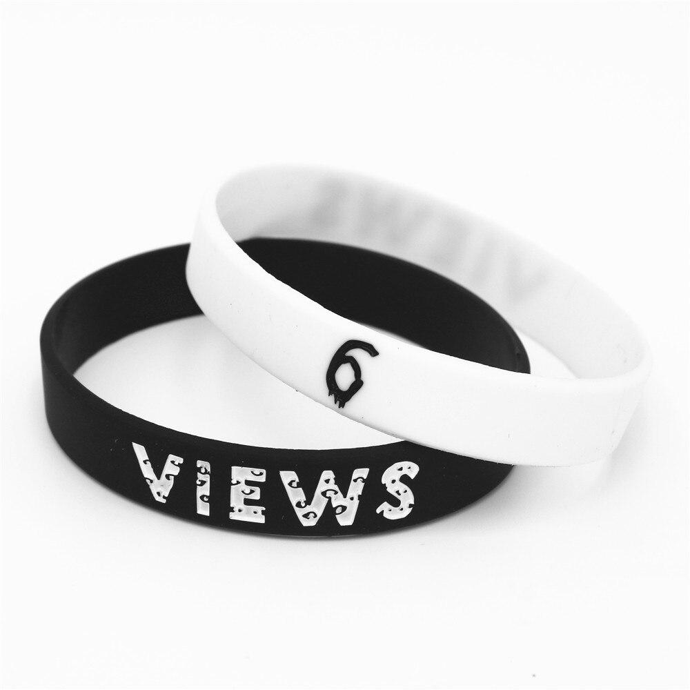 1 Stück Heißer Verkauf 6 Ansichten Gummi Silikon Armband Schwarz Weiß Rap Musik Bands Silikon Armbänder & Armreifen Armband Geschenke Sh176 Ein Bereicherung Und Ein NäHrstoff FüR Die Leber Und Die Niere