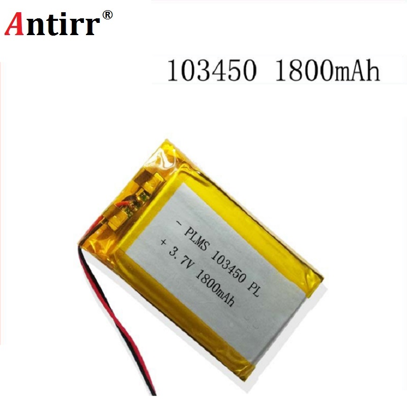 Free shipping Small pudding kid-learning story machine 103450 general charging 3.7 v lithium polymer battery 1800 mah batteries