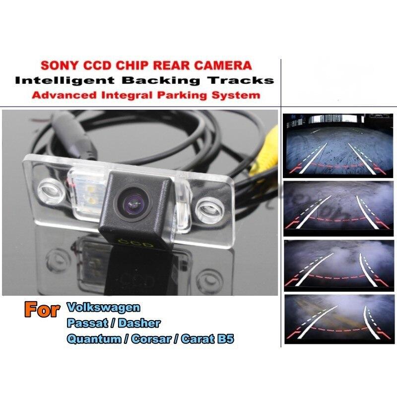 For Volkswagen VW Passat Dasher Quantum Corsar Carat B5 Tracks Camera HD  CCD Intelligent Dynamic Tragectory Rear View Camera