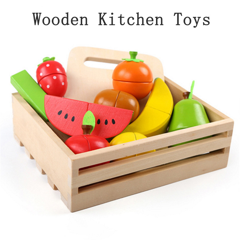 New 1 Pcs Sets Pretend Toy Wooden Kitchen Toys Cutting Fruit Vegetable Play Miniature Food Kids Wooden Baby Early Education Toy wooden kitchen toys cutting fruit vegetable play food kids wooden toy fruit and vegetables food toy