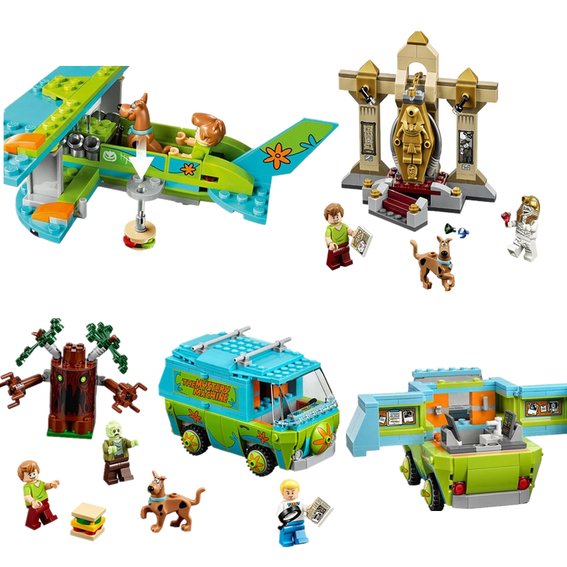 (YNYNOO) 10429 10428 10430 Scooby Doo Mummy Museum Mysterious Plane  Building Block  Toys Compatible With