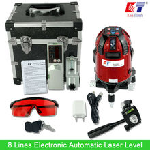 Detector Electrónico Autonivelante nivel Láser KaiTian 360 Rotativo Vertical Horizontal 635nm Láser con Función de Inclinación Al Aire Libre de LA UE