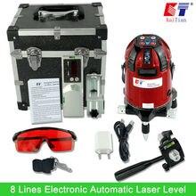 Кайтянь лазерный уровень электронных НАЛИВНАЯ 360 Поворотный детектор вертикальные и горизонтальные Лазеры с Открытый наклона Функция ЕС 635nm