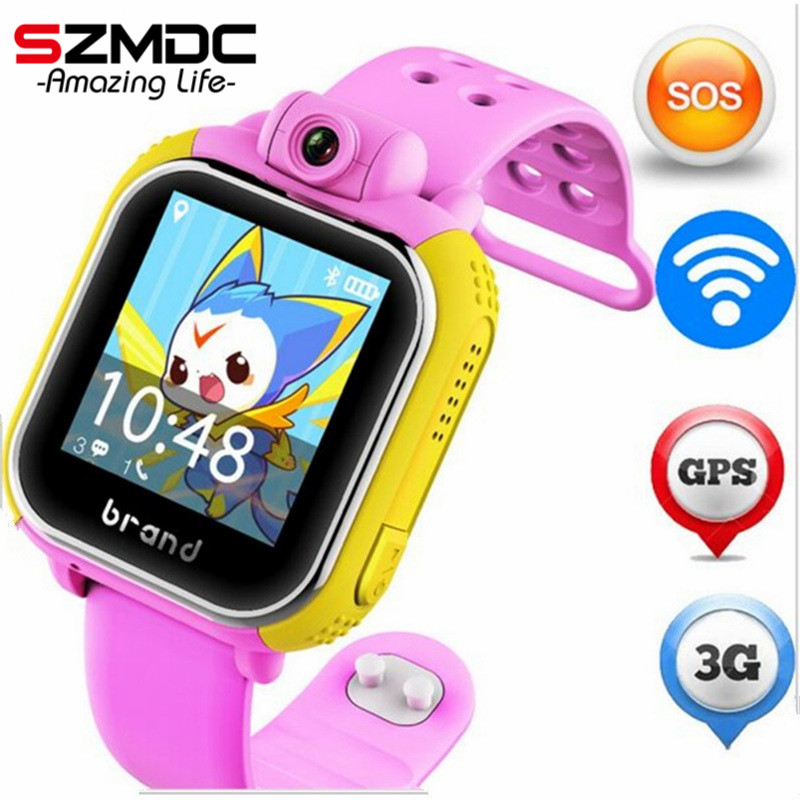 original JM13 3G Smart Watch Camera GPS LBS WIFI Kids Wristwatch SOS Monitor Tracker Alarm For IOS Android smartwatch pk q90 Q50 ds18 waterproof smart baby watch gps tracker for kids 2016 wifi sos anti lost location finder smartwatch for ios android pk q50
