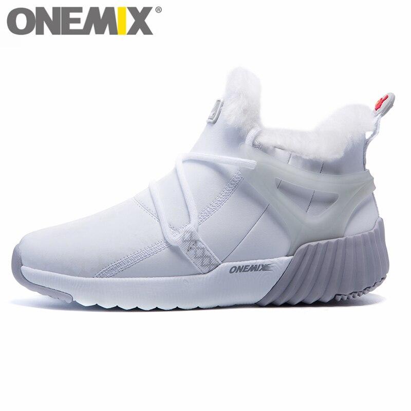 ONEMIX bottes de neige d'hiver pour femmes garder au chaud des baskets pour chaussures femme chaussures de course confortables marche baskets de Sport en plein air